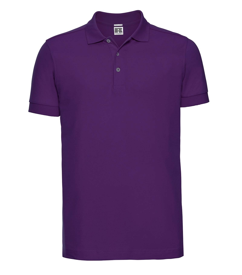 Russell-Mens-Stretch-Polo-566M-ultra-purple-bueste-front