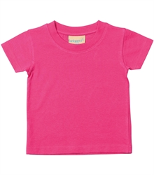 Larkwood-Baby-Toddler-Crew-Neck-T-Shirt-LW020-Fuchsia-FT