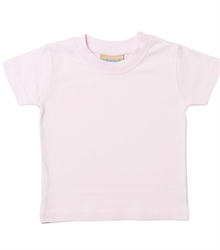 Larkwood-Baby-Toddler-Crew-Neck-T-Shirt-LW020-PalePink-FT