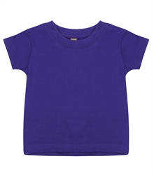 Larkwood-Baby-Toddler-Crew-Neck-T-Shirt-LW020-Purple-FT