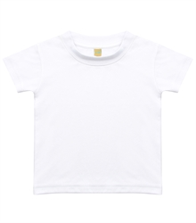 Larkwood-Baby-Toddler-Crew-Neck-T-Shirt-LW020-SublimationWhite-FT
