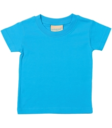 Larkwood-Baby-Toddler-Crew-Neck-T-Shirt-LW020-Turquoise-FT
