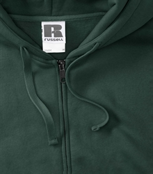 Russell-Mens-Authentic-Zipped-Hood-266M-Bottle-green-bueste-detail
