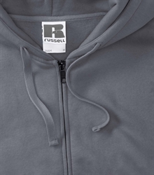 Russell-Mens-Authentic-Zipped-Hood-266M-Convoy-grey-bueste-detail