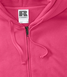 Russell-Mens-Authentic-Zipped-Hood-266M-fuchsia-bueste-detail
