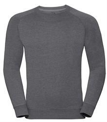 Russell-Mens-HD-Raglan-Sweat-280M-Grey-marl-front