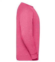 Russell-Mens-HD-Raglan-Sweat-280M-Pink-marl-side