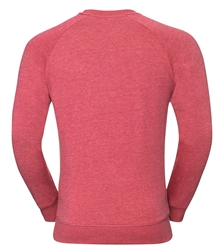 Russell-Mens-HD-Raglan-Sweat-280M-Red-marl-back