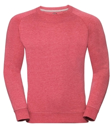 Russell-Mens-HD-Raglan-Sweat-280M-Red-marl-front