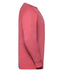 Russell-Mens-HD-Raglan-Sweat-280M-Red-marl-side