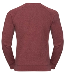 Russell-Mens-HD-Raglan-Sweat-280M-maroon-marl-back