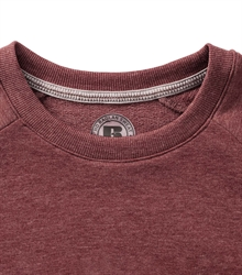 Russell-Mens-HD-Raglan-Sweat-280M-maroon-marl-detail