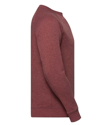 Russell-Mens-HD-Raglan-Sweat-280M-maroon-marl-side