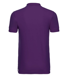 Russell-Mens-Stretch-Polo-566M-ultra-purple-back