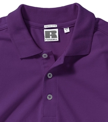 Russell-Mens-Stretch-Polo-566M-ultra-purple-bueste-detail