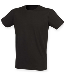 Skinni-Fit-mens-feel-good-stretch-t-shirt-SF121-BLACK-TORSO-FRONT